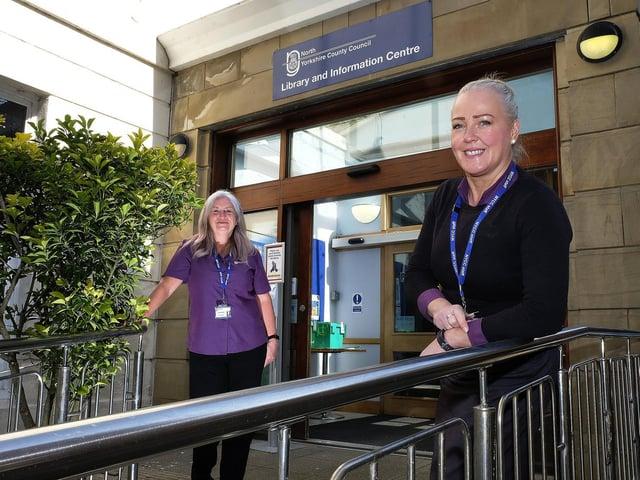 Library supervisors Fiona Bennett and Dee Johnston