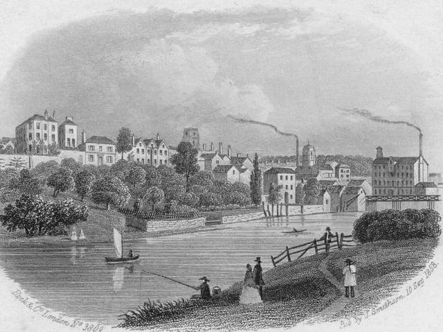 Malton in Yorkshire, circa 1858.