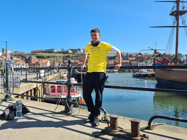 Josh taking his first rest day in Whitby