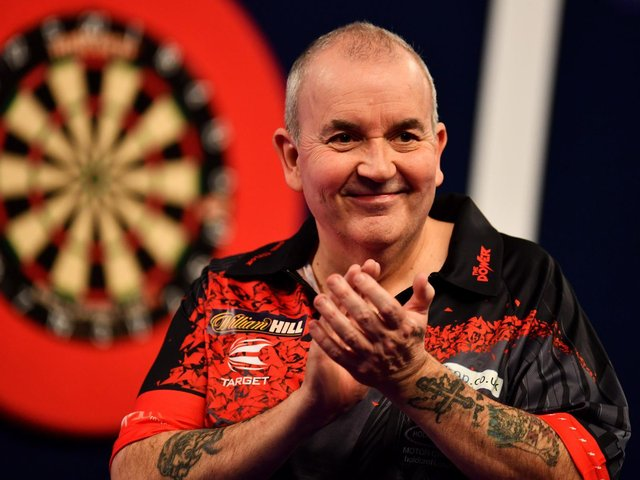THE POWER: Darts legend Phil 'The Power' Taylor will play at Scarborough Spa on Saturday February 5 2022. PICTURE: GETTY IMAGES