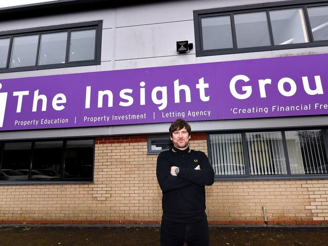 Group Operations Manager Tim Howley outside The Insight Group's new HQ.