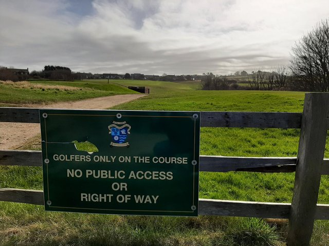 An area of land at Whitby Golf Club earmarked for potential housing development in the Local Plan.