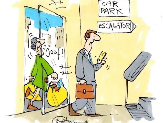 "Private Eye cartoonist Tony Husband's cartoon called ""#BeKind"""