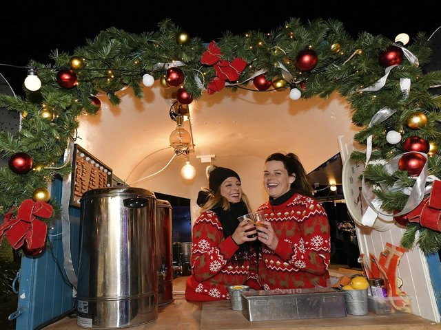A festive toast at Whitby's Christmas market.