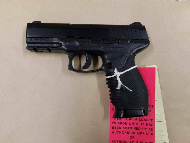 An imitation firearm was seized by police officers in Bridlington.
