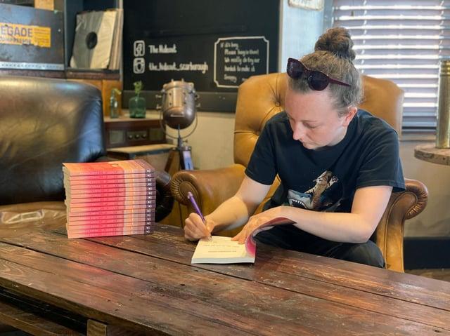 Hannah book signing.