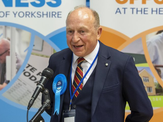 Philip Allott is declared the new Police, Fire and Crime Commissioner for North Yorkshire.