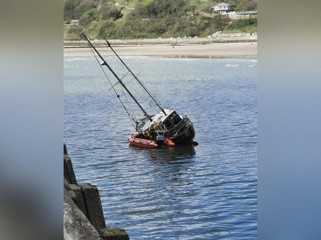 Scarborough's RNLI rescued one person from the yacht. (Photo: Richard Coulson)