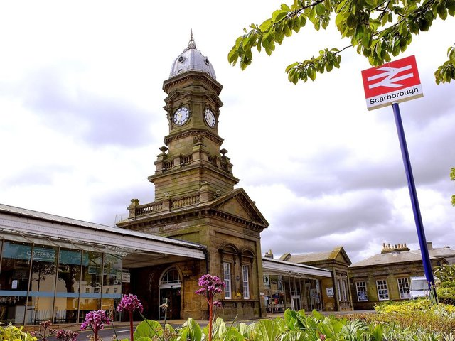 Services have been reinstated at Scarborough train station.