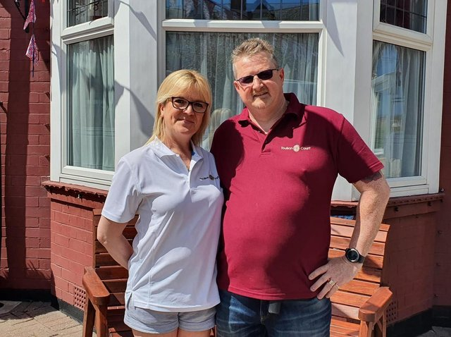 Angela and James Rusden, owners of The Toulson Court Bed and Breakfast in Scarborough, which Tripadvisor has named the best B&B in the world