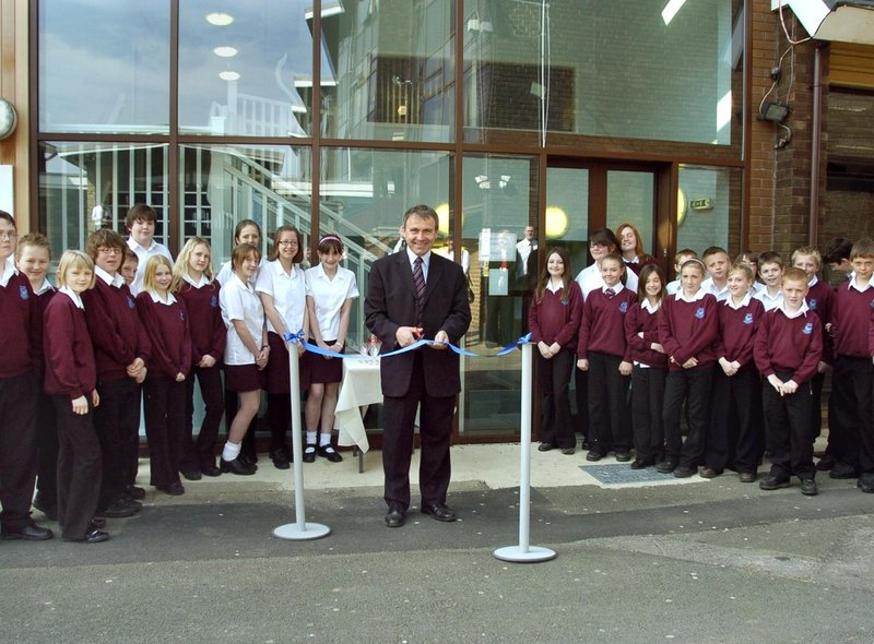 Scarborough and Whitby MP Robert Goodwill was on hand to open the new maths block at Graham School.