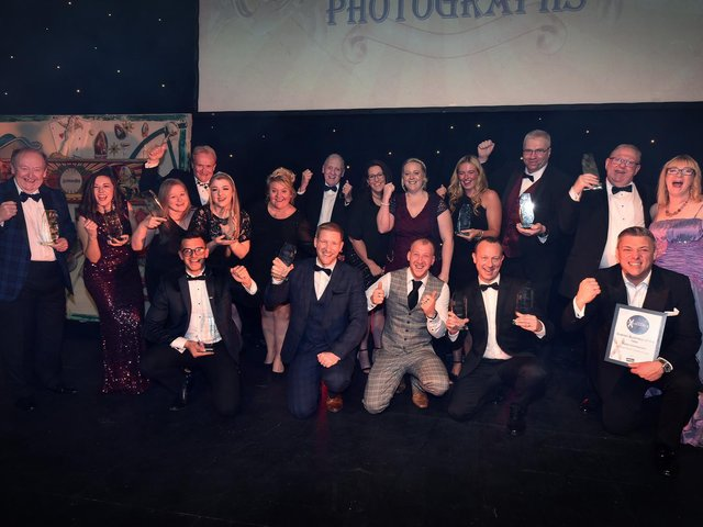 The 2019 awards winners, on a great night at Scarborough Spa.