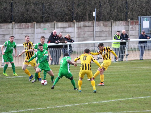 Luke Lofts nets for Scarborough Athletic