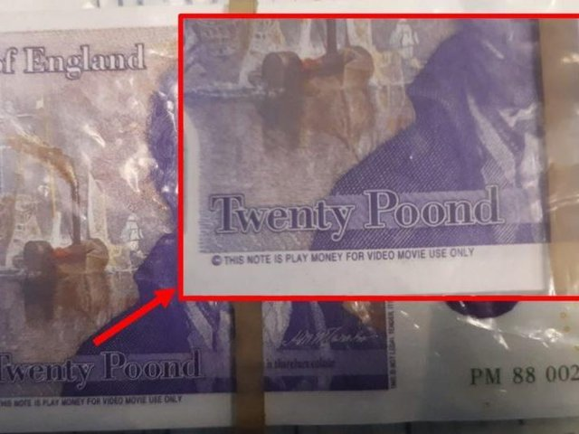 An example of the fake banknotes seized by police.
