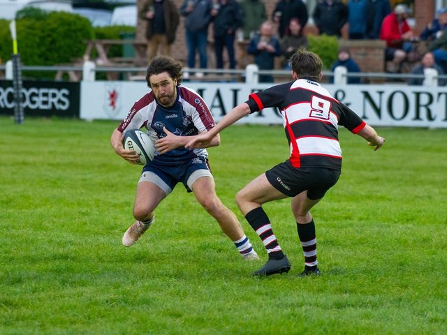 Tom Harrison scored a try for Scarborough RUFC in the loss at Malton & Norton.  PHOTOS BY ANDY STANDING