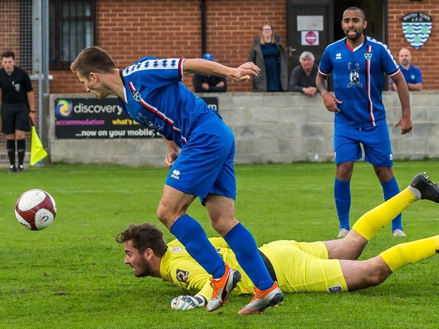 Whitby Town score in last season's friendly with York City.