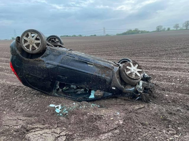 The crash photos are being made public in a bid to warn people not to drink and drive.