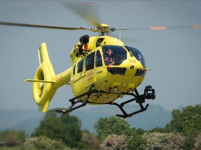 Stock image of the Yorkshire Air Ambulance.