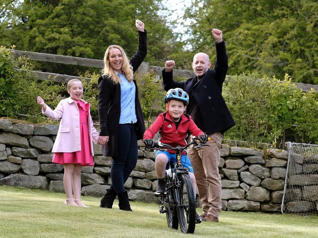 The Hodgson family look forward to Evie's birthday and William's bike ride. 211928p