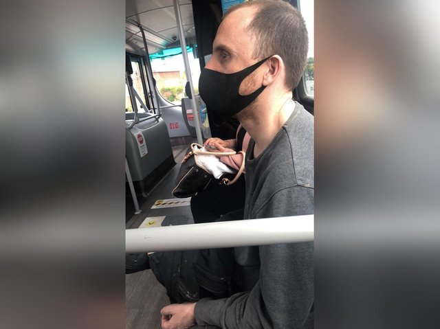 Police want to speak to this man about the incidents of harassment on the 12 and 13 buses between Bridlington and Scarborough.