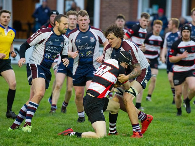 Luke Brown in action for Scarborough in their loss at Malton on Friday night  Photo by Andy Standing
