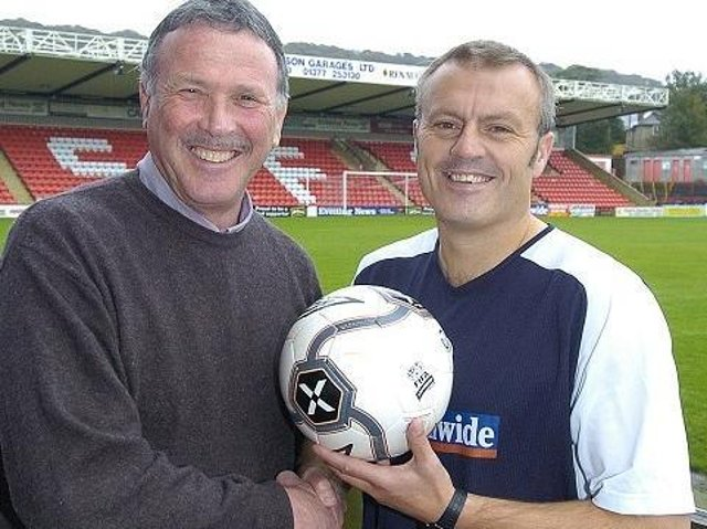 Eric Winstanley and Boro boss Neil Redfearn meet up in October 2005.