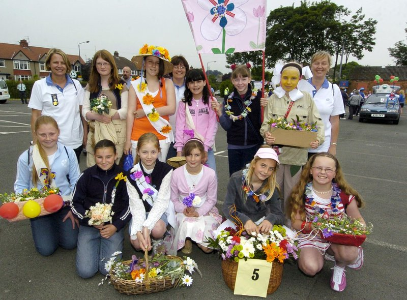 The Scarborough West Guides are all set to go in the carnival parade.