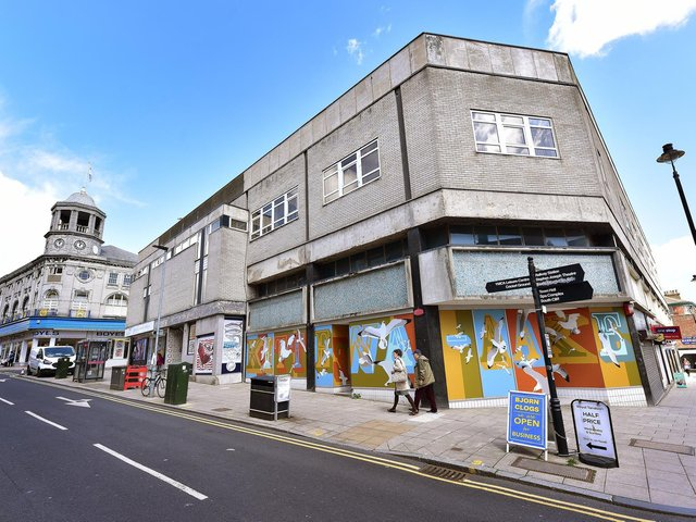 Artworks have been installed across the town.
