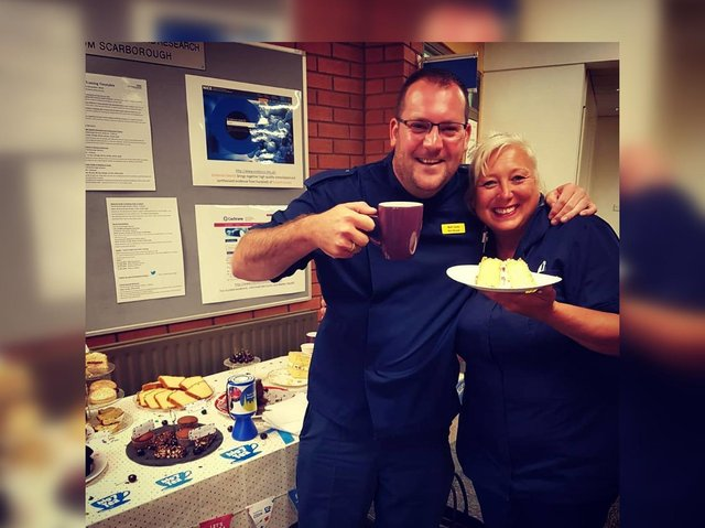 Staff at Scarborough Hospital celebrate the first NHS Big Tea for the NHS' 70th Birthday in 2018