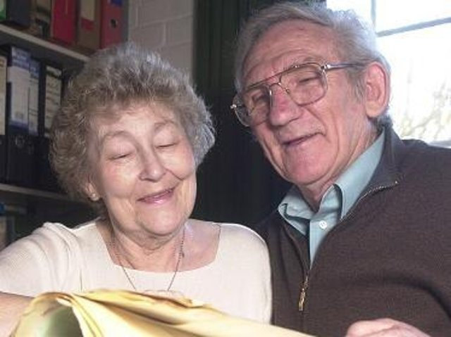 Boro legend Colin Appleton, right, pictured with his wife Sheila in 2004, has sadly passed away at the age of 85