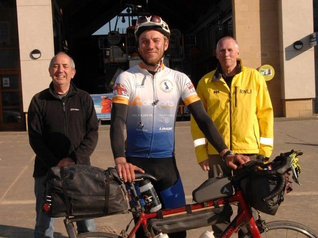 L-R: Jim Lidgley, Harry Lidgley and Dave Horsley