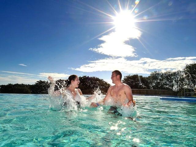 Swimming in the sun at Alpamare. Picture: JPI Media/ Richard Ponter