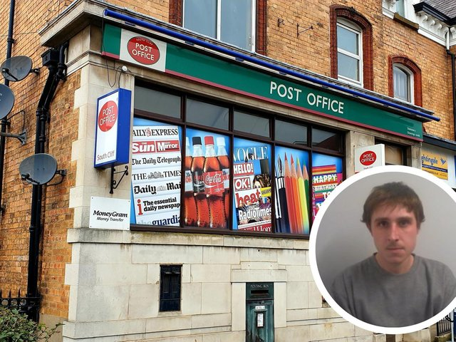 Hodson tried to hold up the South Cliff Post Office in March.