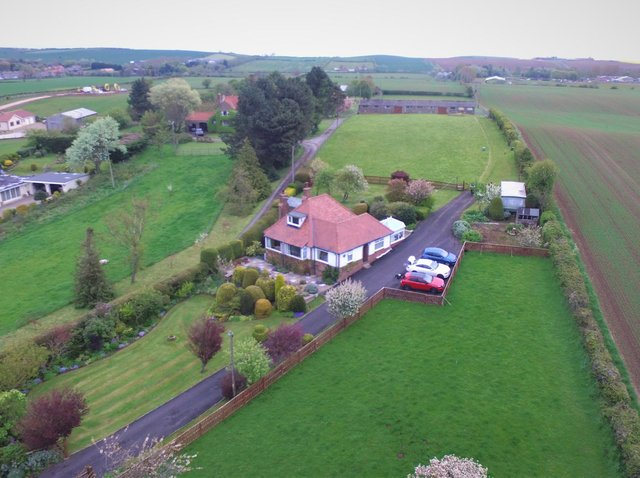 Holmefield, Scalby Road, Scarborough, with gardens and surrounding countryside