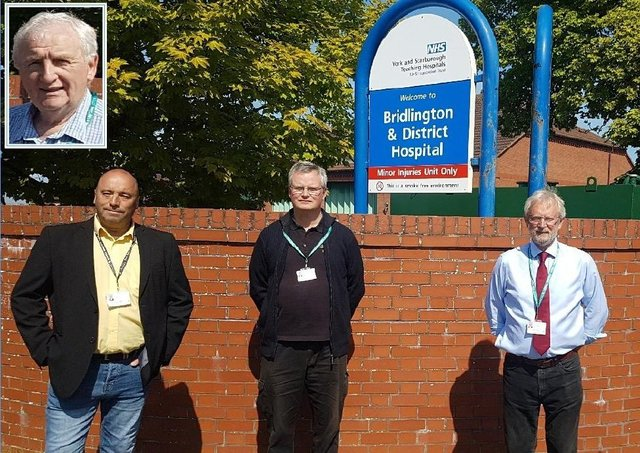 """A cross-party group of Bridlington councillors, including Mike Heslop-Mullens, Andy Walker, Tim Norman and Liam Dealtry denounced the 'Working Towards A Healthy Bridlington' document as a """"marketing tool to mislead people into accepting the loss of their hospital services""""."""