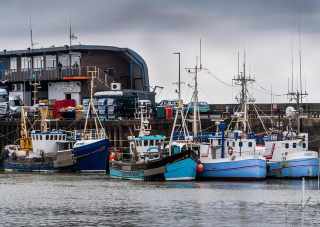 Fishing boats in Bridlington harbour.