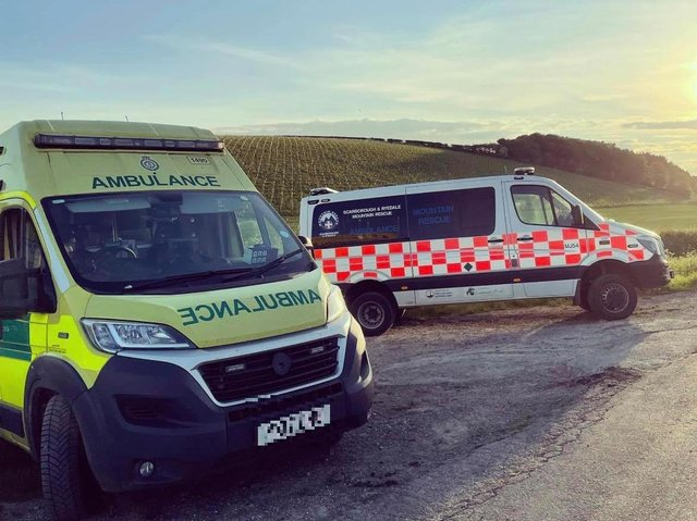 Rescuers were called to help two injured cyclists.