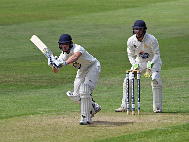 Ed Hopper shone with bat and ball in Scarborough 2nds' loss at home to Pocklington  Photo by Simon Dobson