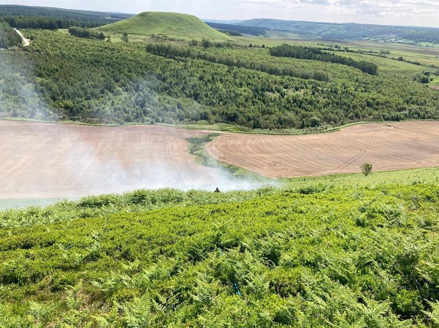 Smoke coming off the bracken fire. Picture: North Yorkshire Fire and Rescue Service
