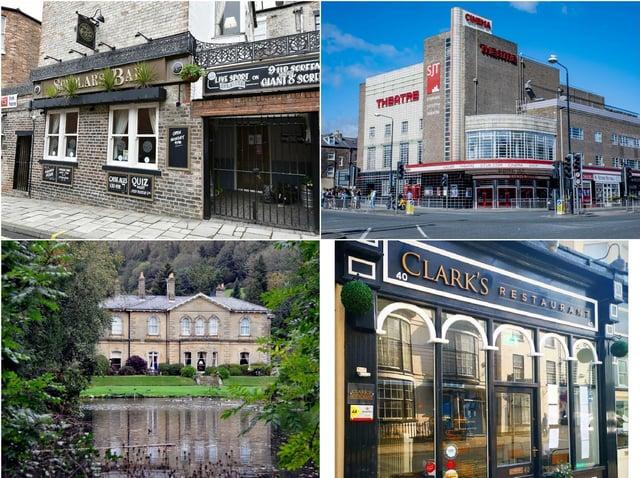 Clockwise from top left: Scholars bar, Stephen Joseph Theatre, Clark's Restaurant and Hackness Grange Hotel.