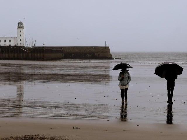 Wet weather in Scarborough. Picture: JPI Media/ Richard Ponter