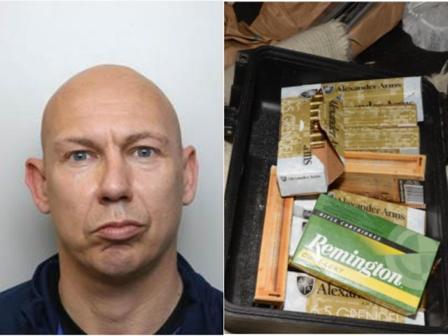 Paul Shepherd, 43, has been convicted after guns, drugs and 200 rounds of ammunition were found at his Leeds home. (Photo: NCA)