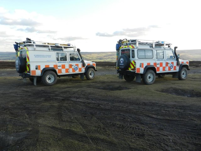 Scarborough and Ryedale Mountain Rescue team.