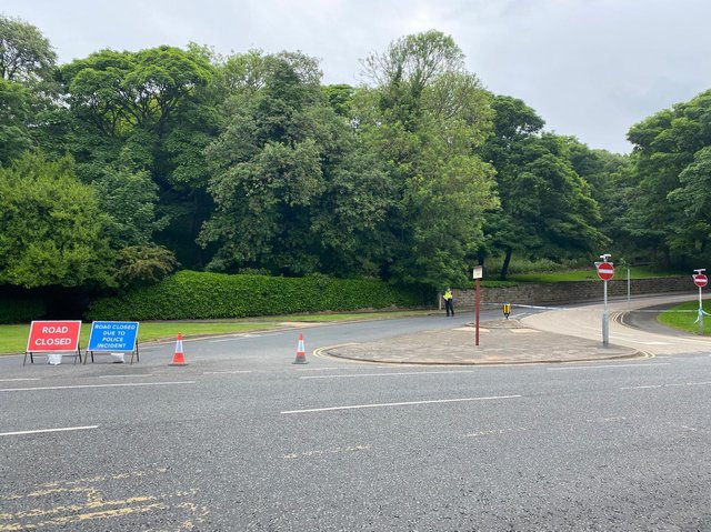 The police cordon at the bottom of Peasholm Road in Scarborough. Picture: JPI Media