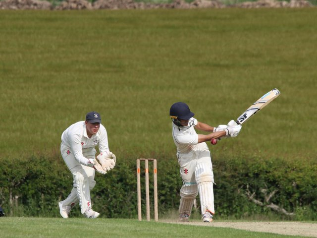 Wold Newton hit out in their loss at home to Wykeham 2nds  PHOTO BY TCF PHOTOGRAPHY