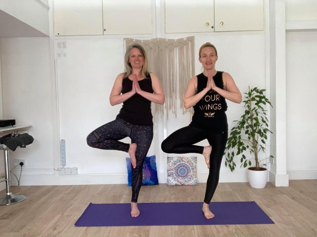 Fran Kitson and Becky Hildreth of BeYoga Studio in Scarborough