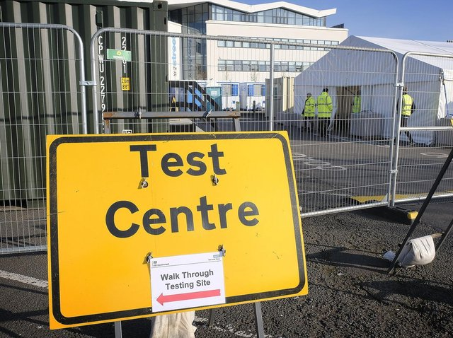 The testing site at William Street Coach Park in Scarborough. Picture: JPI Media/ Richard Ponter