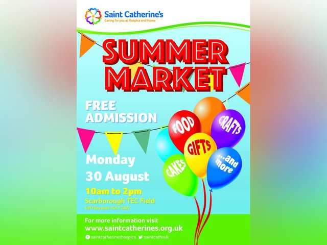 Saint Catherine's summer market will take place on Scarborough TEC's field.
