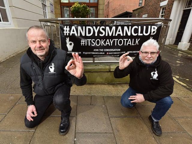 Shaun Tymon and Gordon Thompson. Picture: JPI Media/ Richard Ponter