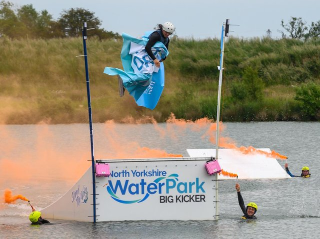 Rocco Burbidge officially opens North Yorkshire Water Park